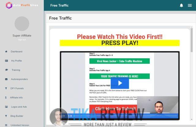 Auto Profit Sites demo 2.2