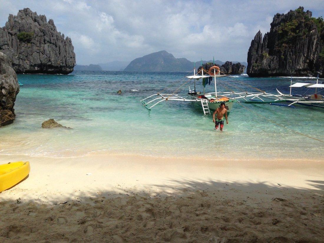 Payong-Payong Beach in El Nido, Palawan