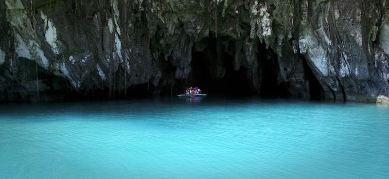 The entrance of the subterranean river in Puerto Princesa, Palawan