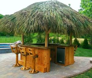 Tiki Bar - Red Cedar Tiki Bar - Custom Tiki Bars For Sale on Backyard Tiki Bar For Sale id=25615
