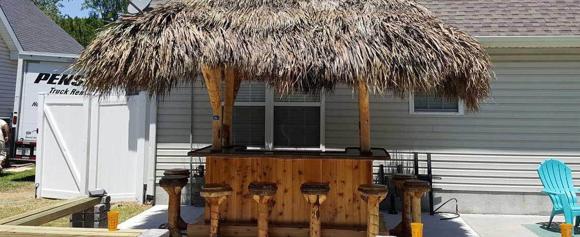 Tiki Bar - Red Cedar Tiki Bar - Custom Tiki Bars For Sale on Backyard Tiki Bar For Sale id=29417