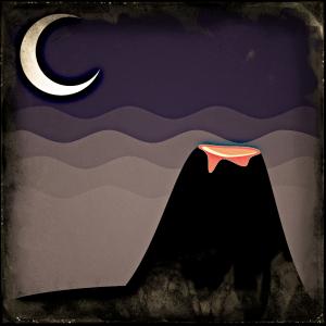 Volcano by Moonlight