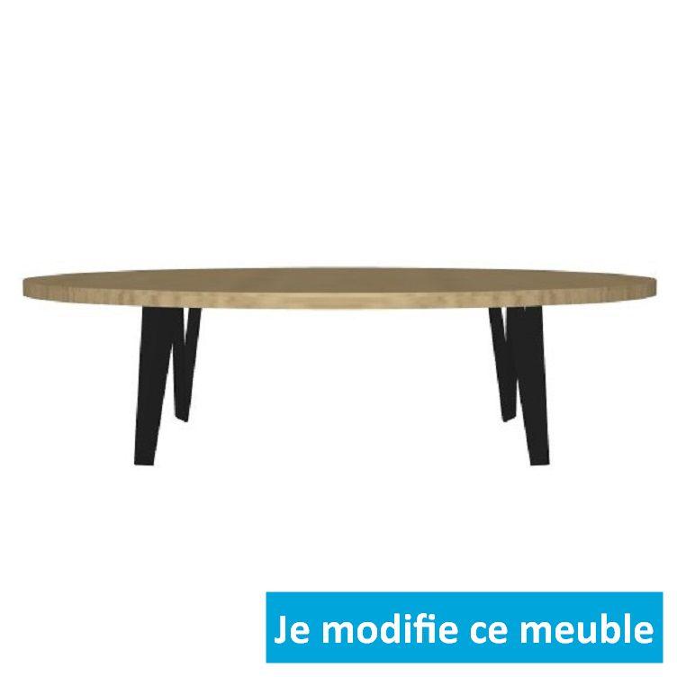 table ovale en bois sur mesure c est