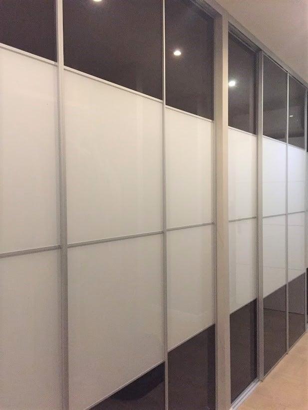 kit placard coulissant design 3 portes avec profils largeur 10 mm panneaux non fournis