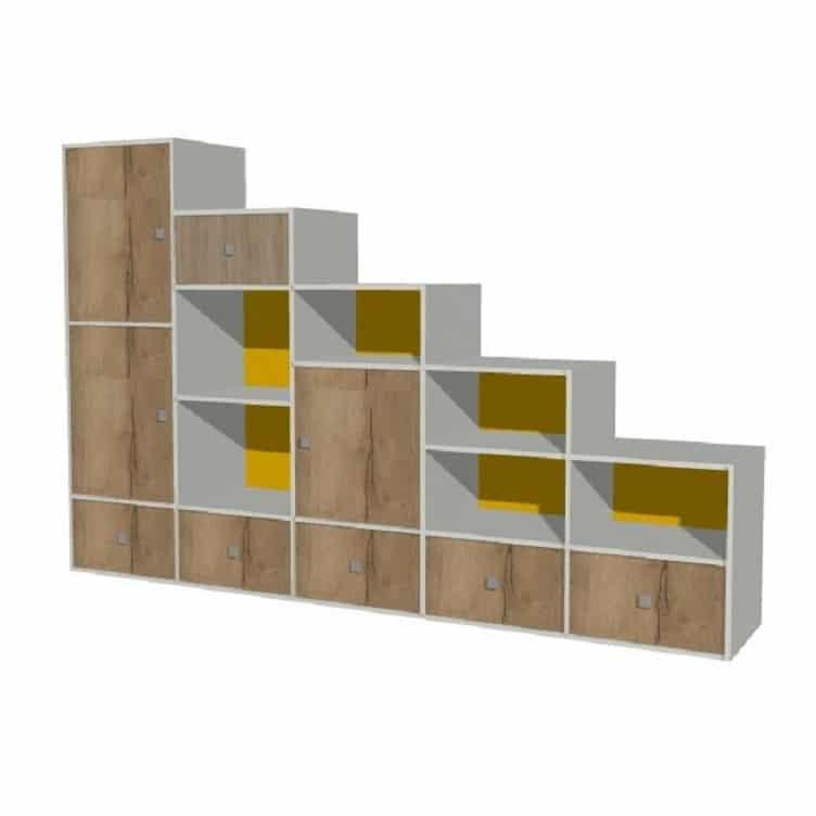 meuble de rangement sous escalier sur mesure
