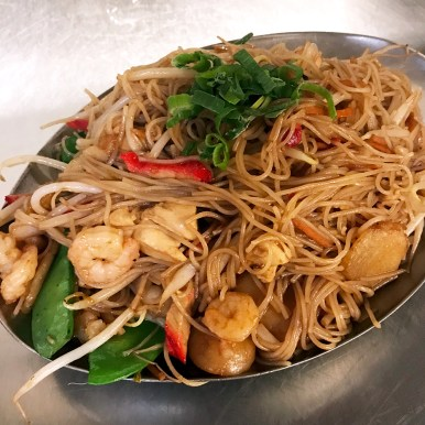 Singapore Rice Noodles with Shrimp & Vegetables