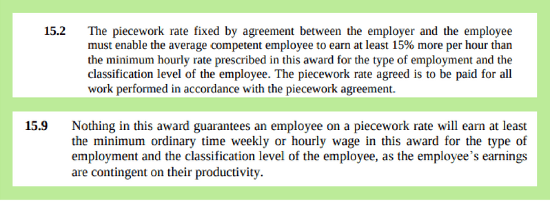 horticulture award clause 15