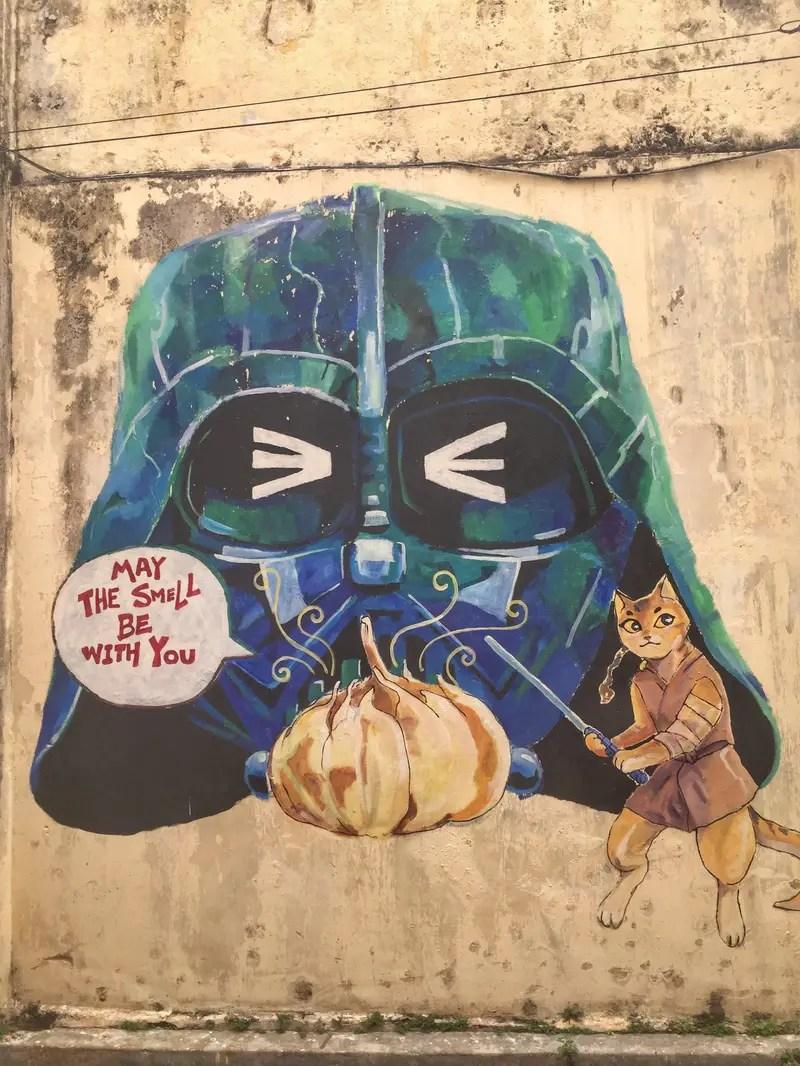 street art star wars ipoh