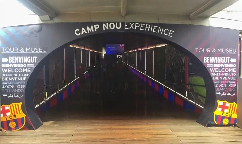 camp nou tour entrance