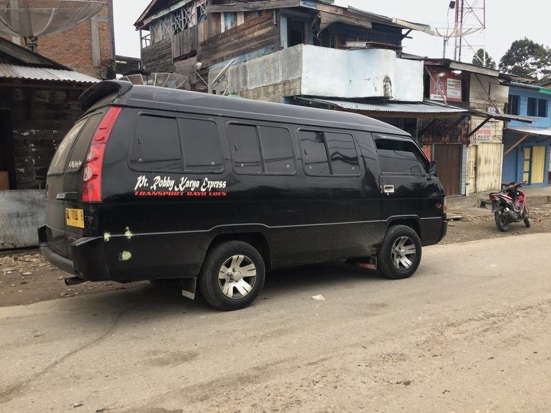 black van transport sumatra
