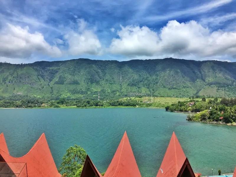 views of the hill on samosir island