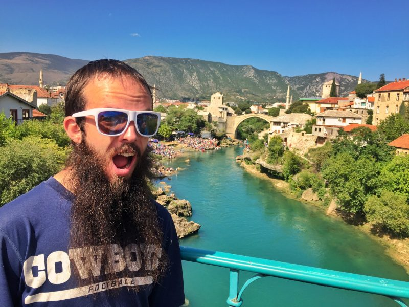 arriving in mostar