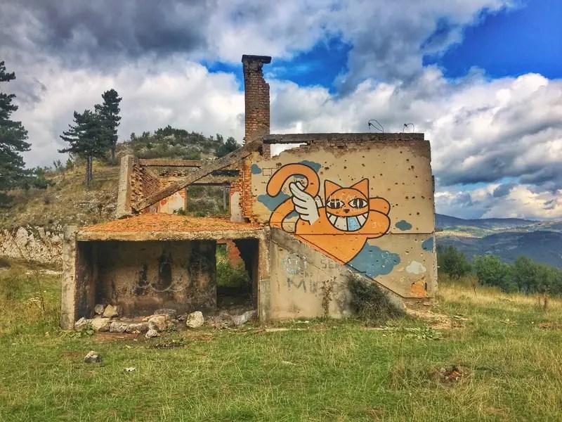 abandoned houses sarajevo