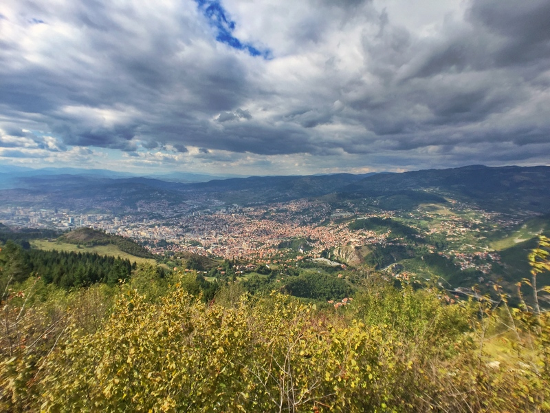 view from the hills of sarajevo