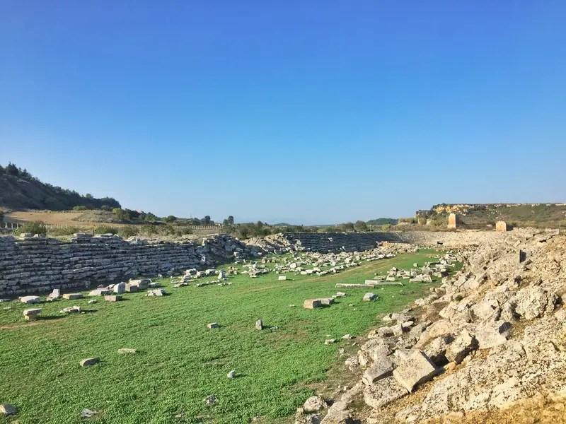 ancient olympic perge stadium in turkey