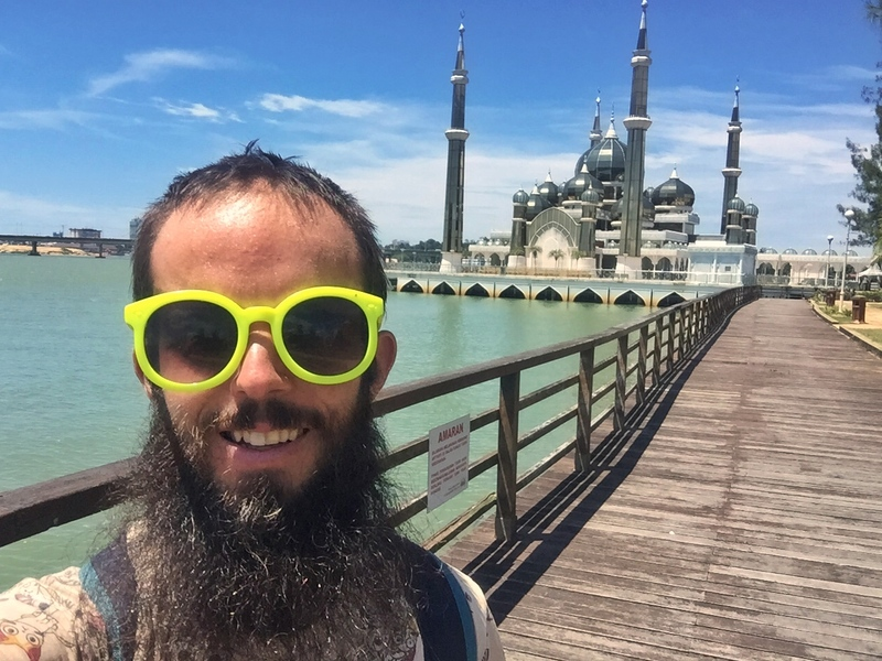 sneaky crystal mosque selfie
