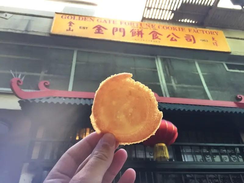 eating fortune cookies