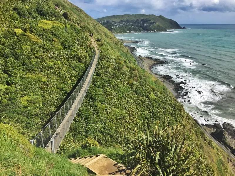 paekakariki escarpment swing bridge