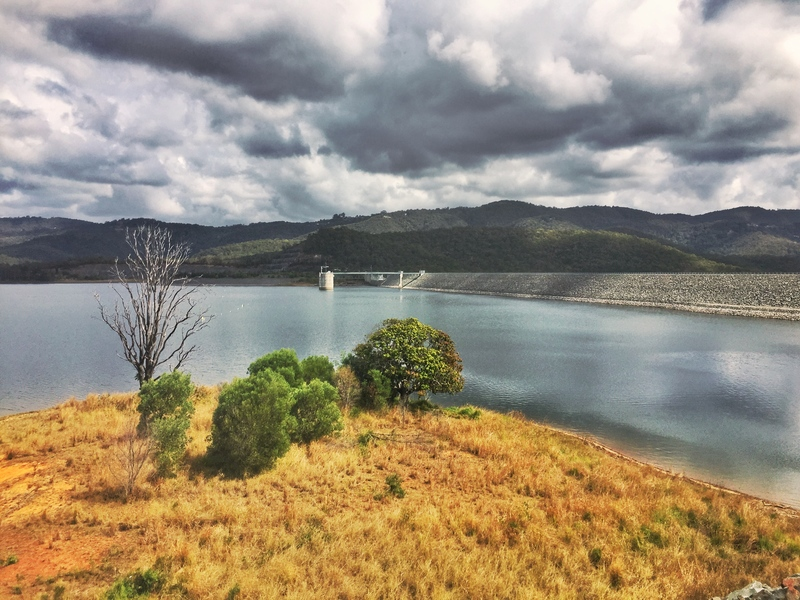 overlooking hinze dam