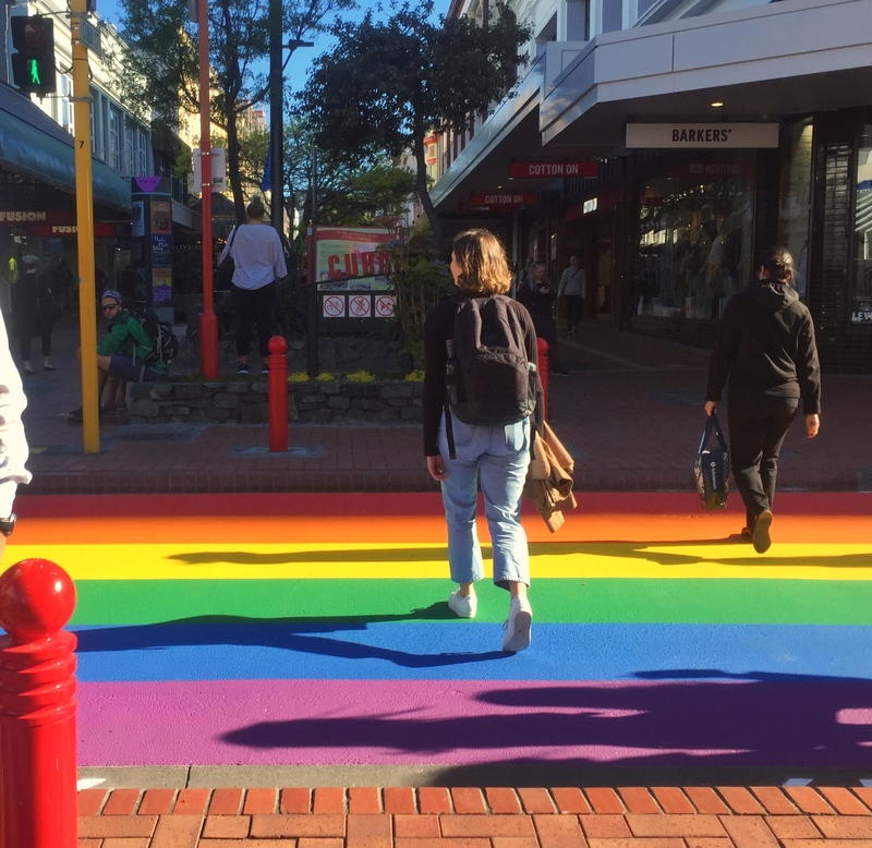 wellington cuba street rainbow crossing