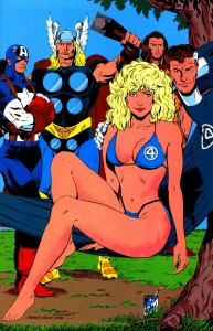 Sexy Invisible Woman with men 193x300 Sexy Invisible Woman with men