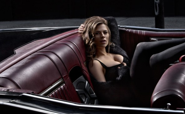 Haley Atwell in a convertable 1024x629 Haley Atwell in a convertable