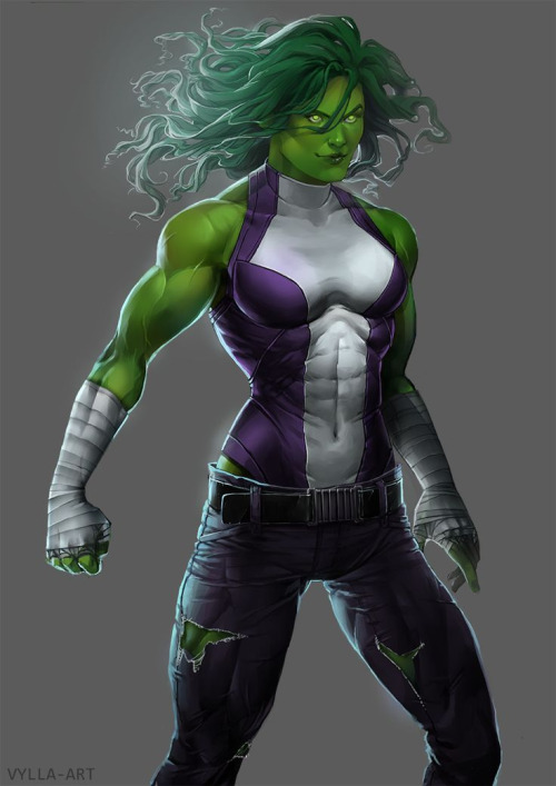 She Hulk has glowing eyes She Hulk has glowing eyes