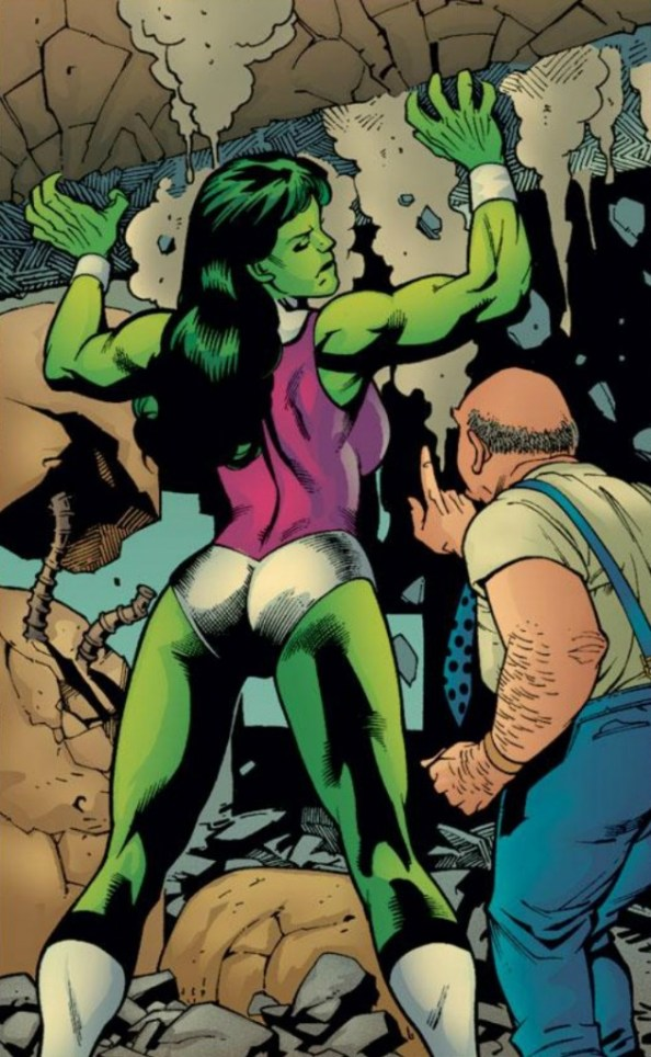 she hulk lifting by a man in suspenders 631x1024 she hulk lifting by a man in suspenders