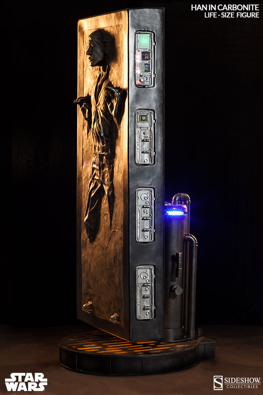 carbonite 3 Life Size Han Solo In Carbonite Can Be Yours For Just $6,999