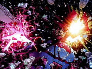 galactus vs a fleet of ships