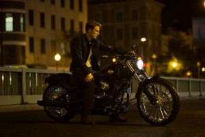 Steve Rogers on his nice bike