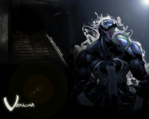Venom has green goop in his mouth