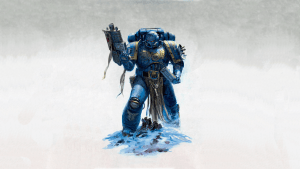 Blue Space Marine reloading