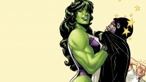 she hulk knocked out the bad guy
