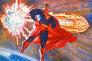 superman stands by his exploding star