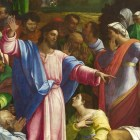 Jesus raising Lazarus from the dead.