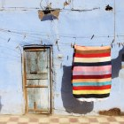animated door and hanging cloth