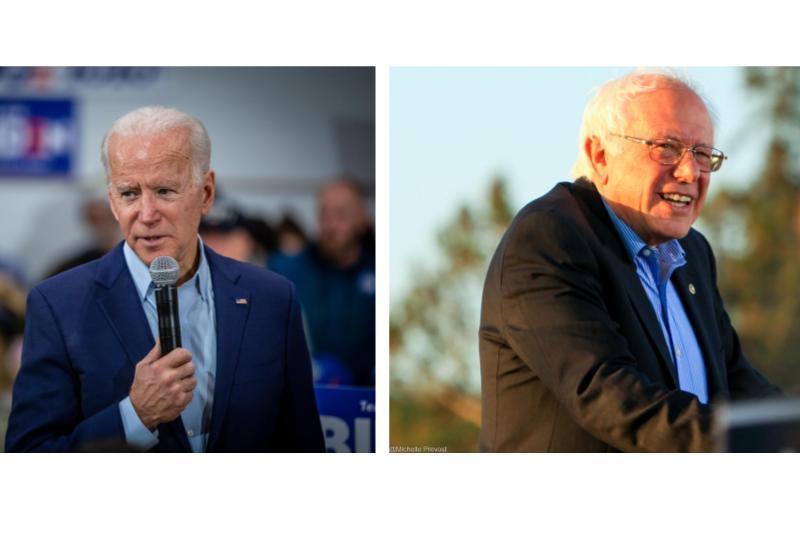 Joe Biden and Bernie Sanders on campaign trail