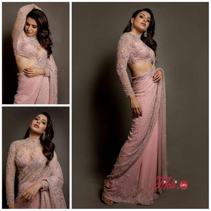 Poses in Saree - Samantha Akkineni
