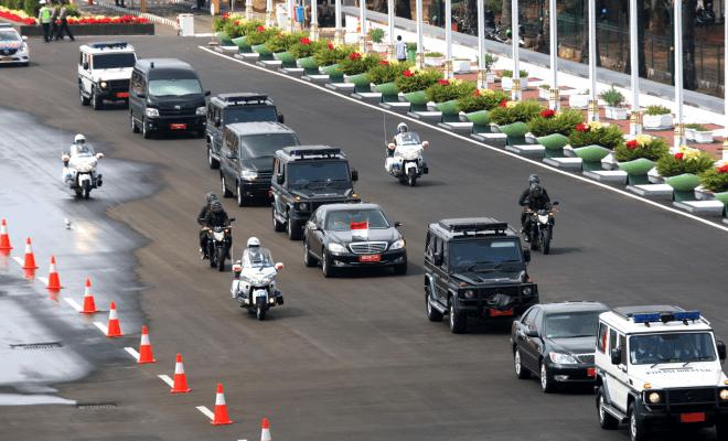 TIKTAK.ID - Iring-iringan Rombongan Presiden Jokowi
