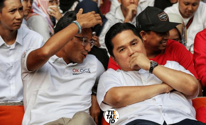 Benarkah Erick Thohir Masih Ngarep Sandiaga Uno Mau Bantu BUMN?