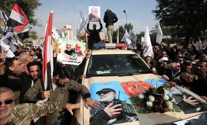 Ribuan Pelayat di Baghdad Kutuk 'Setan Besar' Amerika