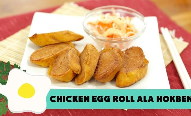Cara Membuat Chicken Egg Roll ala Hokben