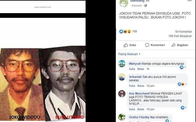 Cek Hoaks Atau Fakta: Benarkah Jokowi Belum Pernah Diwisuda UGM dan Foto Wisudanya Palsu?