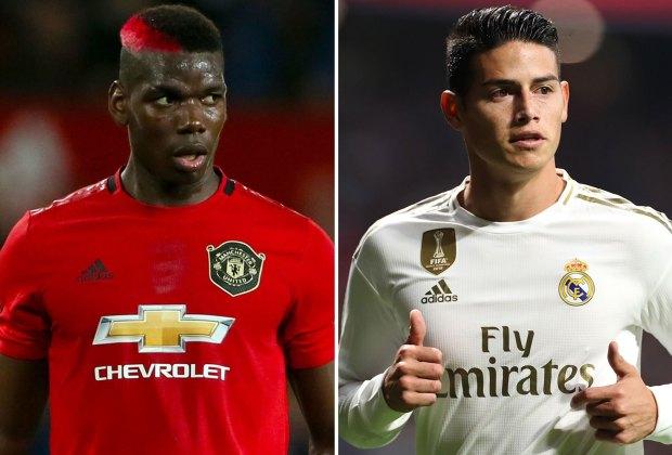 MU dan Real Madrid Mulai Siapkan Barter Paul Pogba dengan James Rodriguez