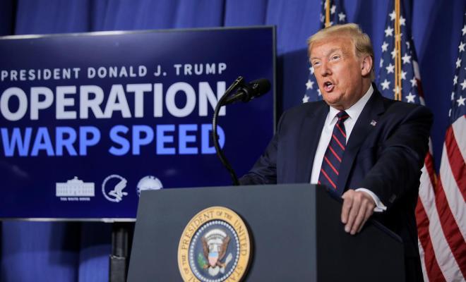 Trump Janjikan Vaksin Corona Tersedia Saat Pilpres AS