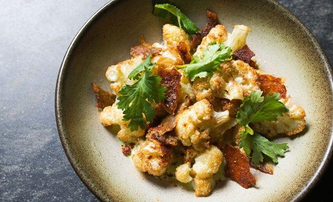 Resep Cauliflower Tandoori Chicken Skin, Kulit Ayam ala India