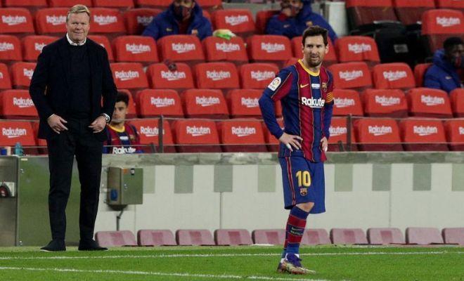 Koeman Berharap Sanksi Larangan Main Dua Laga Messi Dikurangi