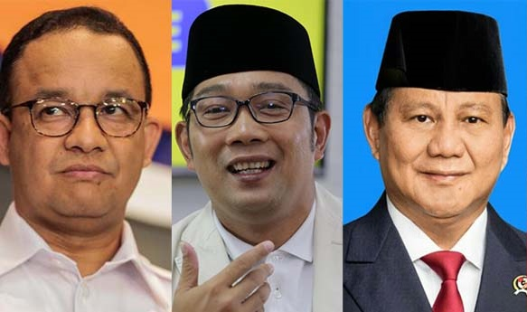 Survei Capres Terbaru, Prabowo Teratas, Ridwan Kamil Ke-2, Anies Urutan Berapa?