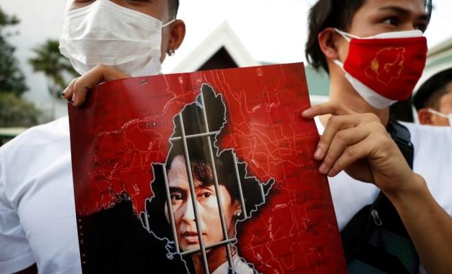 Partai NLD Tuntut Pembebasan Aung Sang Suu Kyi